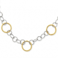 14K Two-Tone Fancy Circle Necklace