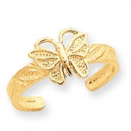 14K Butterfly Toe Ring