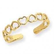 14k Open Hearts Toe Ring