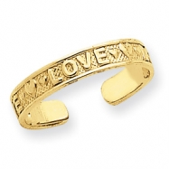 14k Love w/Hearts Toe Ring