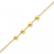 14k w/ 4, 4mm Bead Necklace chain