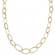 14k Fancy Link Textured Necklace chain