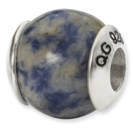 Sterling Silver Reflections Sodalite Stone Bead