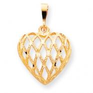 10k Heart Charm