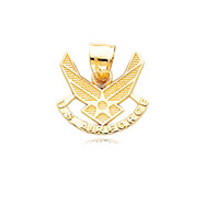 14K Yellow Gold U.S. Air Force Pendant