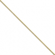 10K Gold 1mm Box Chain 18""