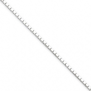 Sterling Silver 1.2mmDiamond-cut Mirror Box Chain 16""
