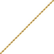 14k 2mm Handmade Regular Rope Chain 18""