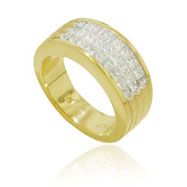 18K Yellow Gold Fancy Diamond Ring
