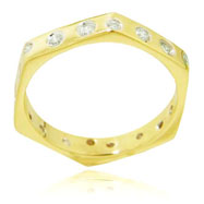 14K Yellow Gold Diamond Fancy Designer Ring