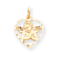 10k ANGEL HEART CHARM