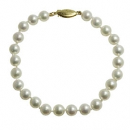 """6-6.5mm """"AA"""" Quality Cultured Pearl 7"""" Bracelet"""