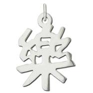 "Sterling Silver ""Music"" Kanji Chinese Symbol Charm"