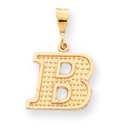 10k Raised Edge Initial B Charm