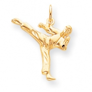 10k Solid Karate Person Charm