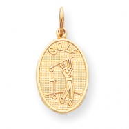 10k GOLF MEDALLION CHARM