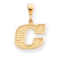 10k Raised Edge Initial C Charm