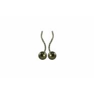 14K White Gold 8-9mm Tahitian Pearl & Diamond Earrings