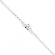 Sterling Silver Sun Charm Anklet