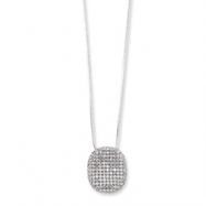 Sterling Silver & CZ Polished Necklace chain