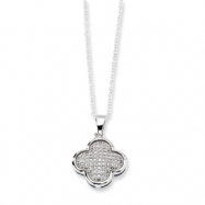 Sterling Silver & CZ Polished Fancy Necklace chain