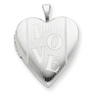 Sterling Silver 20mm with LOVE Heart Locket chain