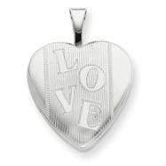 Sterling Silver 16mm LOVE Heart Locket chain
