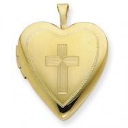 1/20 Gold Filled 20mm Cross Heart Locket chain