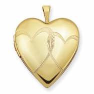 1/20 Gold Filled 20mm Entwined Hearts Heart Locket chain