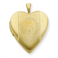 1/20 Gold Filled 20mm First Communion  Heart Locket chain