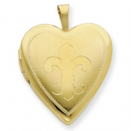 1/20 Gold Filled 20mm Fleur de lis Heart Locket chain