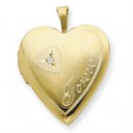1/20 Gold Filled 20mm Diamond in Heart Forever Heart Locket chain