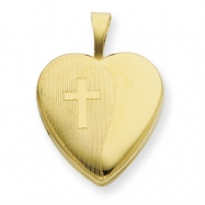 1/20 Gold Filled 16mm Cross Heart Locket chain