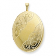 1/20 Gold Filled 20mm Swirled  Oval Locket chain