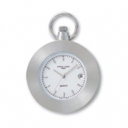 Charles Hubert Stainless Steel White Dial Open Face Pocket Watch