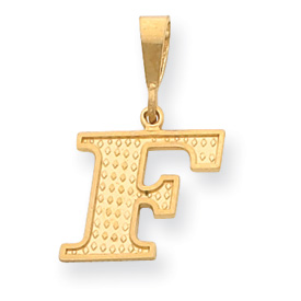 14k Initial F Charm