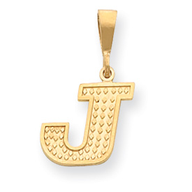 14k Initial J Charm