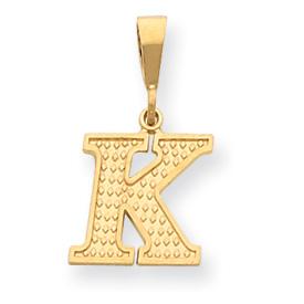 14k Initial K Charm