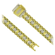 18K Two-Tone Gold Fancy Bersani Bracelet