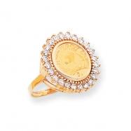 14k Diamond Panda Coin Ring Mounting