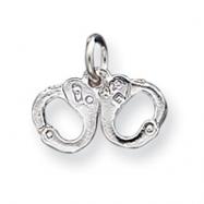 Sterling Silver Handcuffs Charm