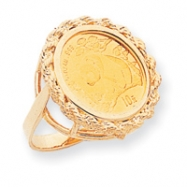 14k 1/10th Panda Coin Ring