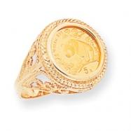 14k 1/20th Panda Coin Ring