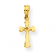 14K Mini Cross Pendant