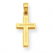14K Cross Layered on Cross Pendant