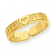 14k Heart Toe Ring