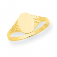 14K Oval Child Signet Ring