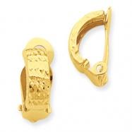 14k Diamond-cut Non-pierced Earrings