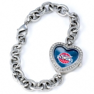 Ladies NBA Detroit Pistons Heart Watch