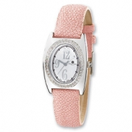 Ladies Charles Hubert Pink Stingray 0.75ct. Diamond 29x32mm Watch